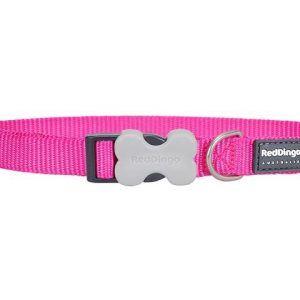 Red Dingo Hundehalsbånd - Classic Hot Pink - Flere Størrelser