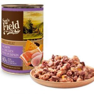 Sam´s Field Kornfri vådfoder med laks, Kylling og græskar