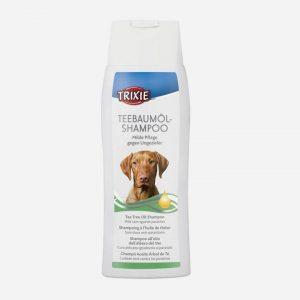 Shampoo til hunde med tetræsolie
