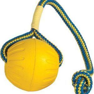Starmark Hundelegetøj Slidstærkt, Foam Ball med reb