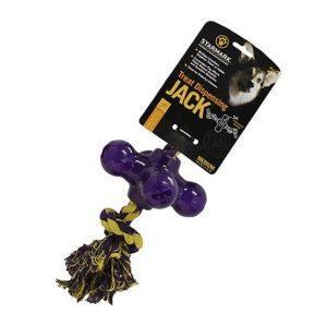Starmark Hundelegetøj Slidstærkt, Treat Dispensing Jack