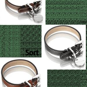 Stilet hundeliner af ægte læder fra Hennesy & sons Royal Sellection