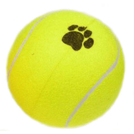 Stor XXXL Tennis bold Ø25 cm, hopper :-)