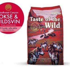Taste Of The Wild Southwest Canyon Hundefoder - Med Vildsvin, Oksekød, Lam og Fisk - 12,2 kg - Kornfrit