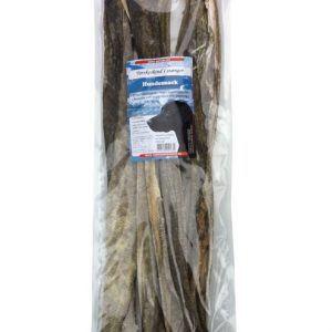 Torskeskind i stænger - tørret fiskeskind, 50 cm