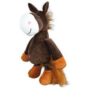 Trixie Hundelegetøjs Hest i Plys - 32cm - Med Pivelyd - - - -