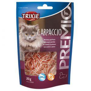 Trixie Premio Katte Snack Godbidder Carpaccio - Med And og Fisk - 20g - Sikkefrie - Glutenfrie - 85,5% Kød og Fisk
