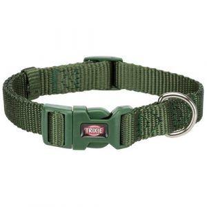 Trixie Premium Hundehalsbånd i Nylon - Forrest Grøn - Flere Størrelser