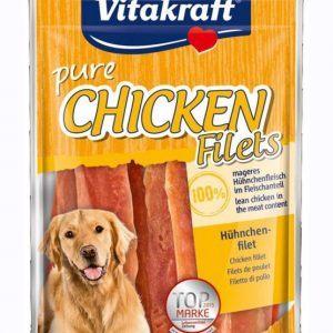 Vitakraft pure chicken filets - Hundegodbidder, Lækker tørret Kyllingefilet, 100% kylling