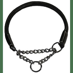 Walker læder halsbånd med kæde 35cm*