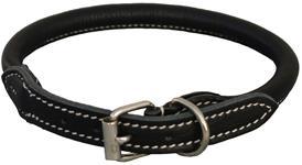 Walker rundsyet læderhalsbånd sort 25 cm