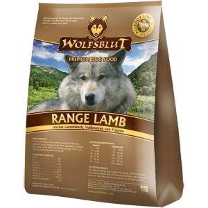 WolfsBlut Range Lamb Adult hundefoder, 2 kg