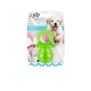 afp Hundelegetøjs Bidesut i Gumm - Grøn eller Pink - Flere Størrelser - Med Pivelyd