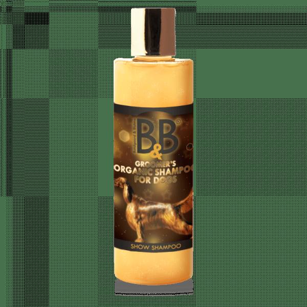 B&B økologisk hundeshampoo, show shampoo med guldstøv