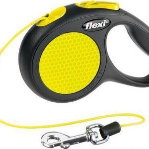 Flexi Neon med snor XS (max. 8kg) 3meter