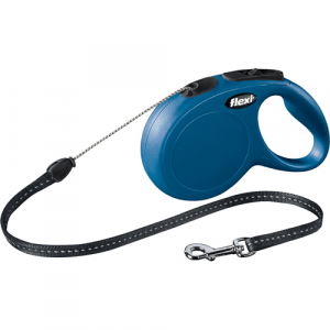 Flexi New Classic med 8m. Snor Medium Blå