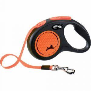 Flexi New Neon med Bånd Orange S (max. 15kg.) 5m