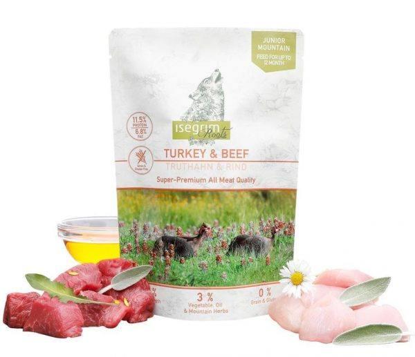 Isegrim Roots vådfoder Junior Turkey & Beef Grainfree 410g
