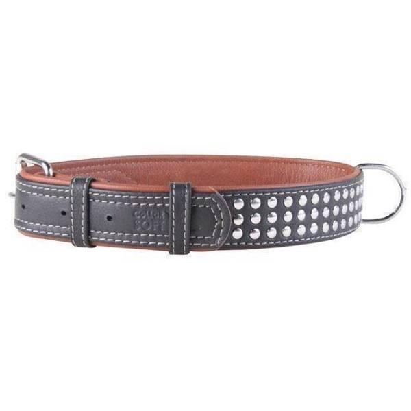 Læder halsbånd til hunde - soft læder