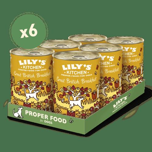 Lily´s kitchen - Great British Breakfast - vådfoder til hunde med pølsekød af vildt, skinke og haricot bønner