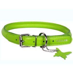 Rundsyet læderhalsbånd, Lime