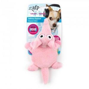 afp Hundelegetøjs Elefant i Pink - Ultrasonic Lydløs