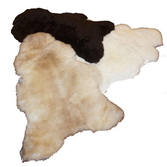 Ægte lammeskind til hundekurven-Hvid-M