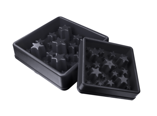 Aktiverings foderskål - Star Small Grå