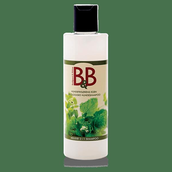 B&B Økologisk Hundeshampoo, Melisse 2i1-100 ml