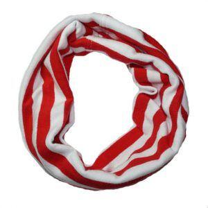 Bandana til hund - rød/hvide striber-XS