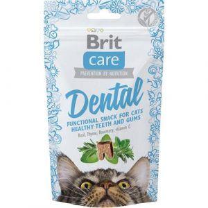 Brit Care Katte Snack Kornfrie Godbidder Dental Med Krydderier Og Vitamin C, 50g
