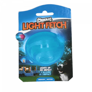 Chuckit bold med LYS, Medium - ingen garanti på lys