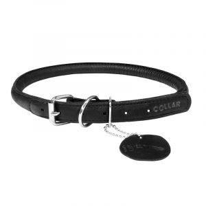 Collar Soft Læderhalsbånd Sort-34-42 cm