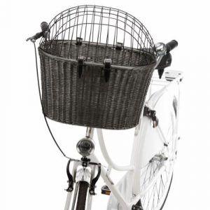 Cykelkurv med gitter til styret, mørkegrå