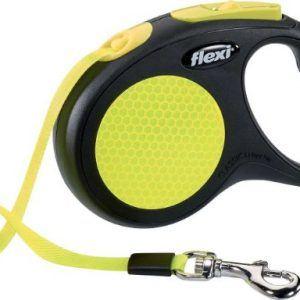 Flexi Neon med Bånd S (max. 12kg), 5m