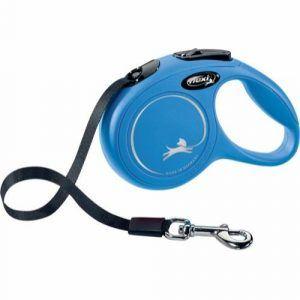 Flexi New classic, udtrækkelig flad hundesnor, blå