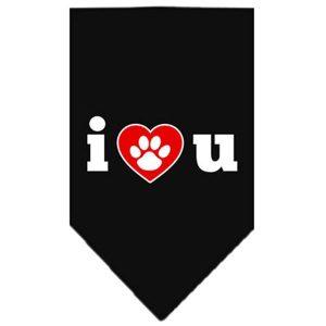 Hundebandana - I LOVE U -Sort