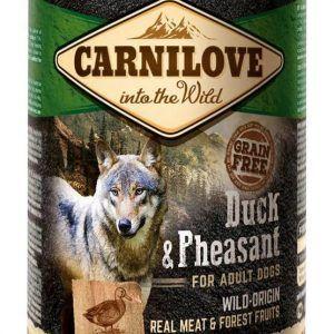 Kornfri & Glutenfri Vådfoder med fasan & and til hunde fra Carnilove
