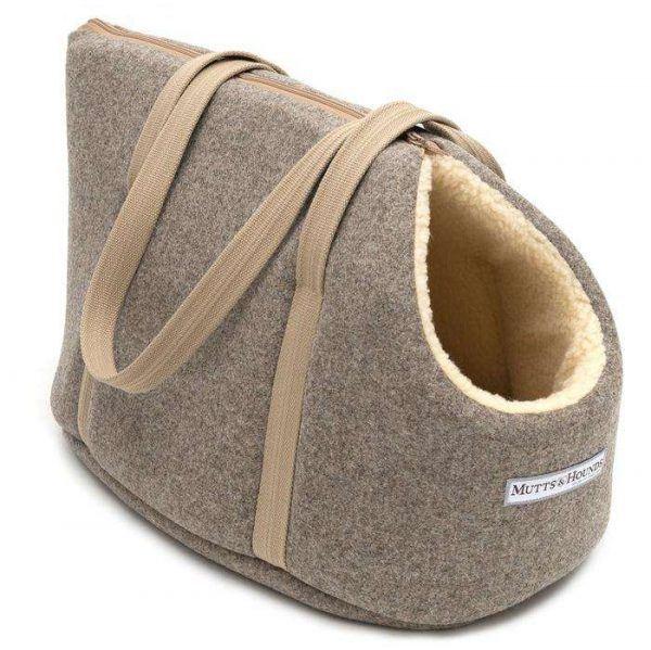 Mutts & Hounds hundetaske Grey Tweed