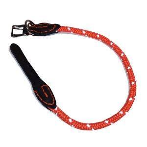 Rundt hundehalsbånd med refleks Orange-50