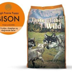 Taste Of The Wild High Prairie Hvalpefoder - Med Bison - 2kg - Kornfrit - - - -