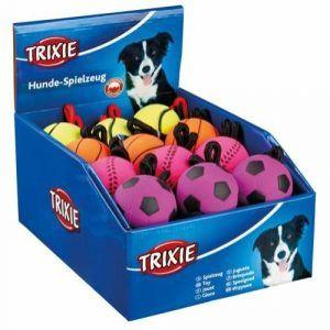 Trixie Hundelegetøjs Mosgummi Bold - Med Snor - Ø6cm