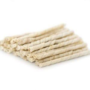 Twisted Sticks Hvide 8mm 100 stk