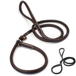WALKER rund retrieverline i læder-Sort