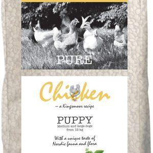10,5 kg Kingsmoor Pure Dog Chicken puppy til mellem- og store racer - PURE HVALP KYLLING