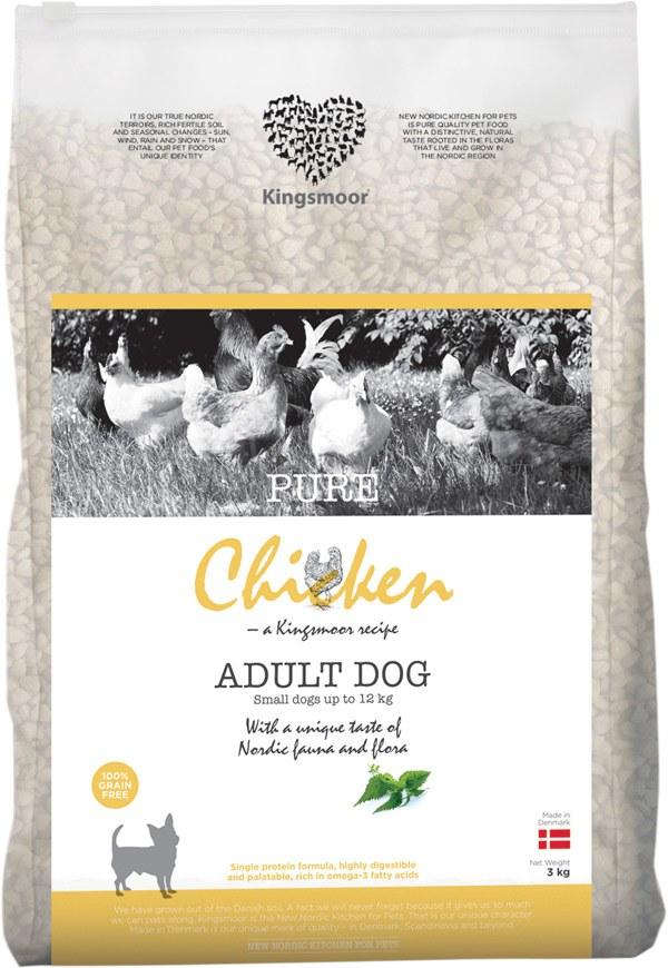 3 kg Kingsmoor Pure Dog Chicken - Pure Kylling Kingsmoor til små racer