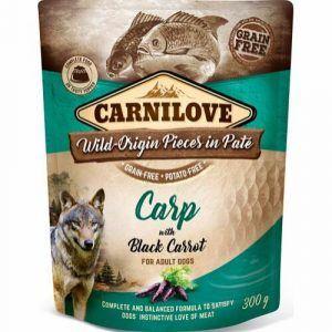 Carnilove Pouch Pate Carp with Black Carrot - kornfri, 300 g