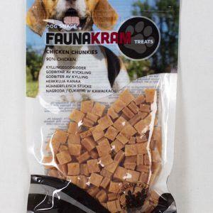 Faunakram, 70 g dog snack - real meat træningsgodbidder med 90% kylling