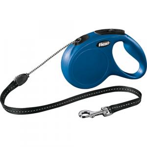 Flexi New Classic med 5m. snor Medium Blå