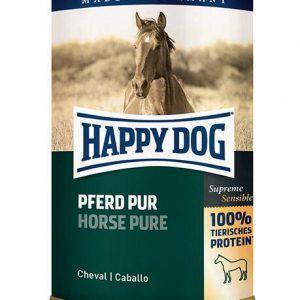 HAPPY DOG Vådfoder til hund - singleprotein hest - 400 g